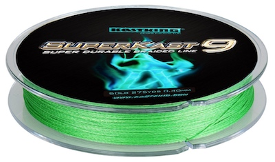 Green braided redfish fishing line ideal for catching redfish from the shore, pier, wade-fishing, or small boats.