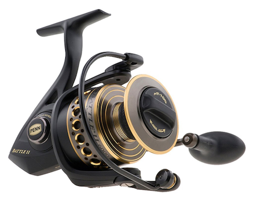 Penn spinning reel, ideal for catching redfish from shore, pier, or boat.