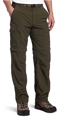 Columbia convertible pants in many colors - for salmon fishing in Alaska.