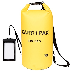Fishing gear dry bag for salmon fishing - holding fishing gear, electronics, credit cards and other items that must not get wet in rain or falling in water.