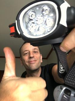 Petzl Ultra Rush headlamp close-up image.